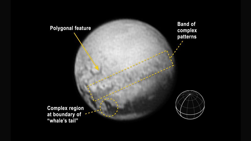 Foto tomada con la New Horizons' Long Range Reconnaissance Imager